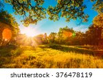 sunset sunrise in summer sunny... | Shutterstock . vector #376478119