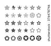 star icons set. black and white....   Shutterstock .eps vector #376478746
