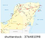 street map of yucatan with the...   Shutterstock .eps vector #376481098