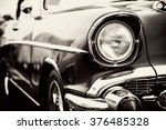 classic car with close up on... | Shutterstock . vector #376485328