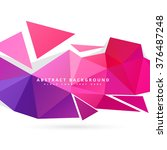 abstract triangle background | Shutterstock .eps vector #376487248