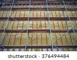 wall insulation  mineral wool ... | Shutterstock . vector #376494484
