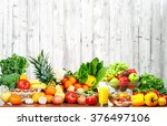 fruits and vegetables. | Shutterstock . vector #376497106