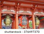 sensoji ji temple in asakusa...   Shutterstock . vector #376497370