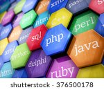 machine code languages on... | Shutterstock . vector #376500178