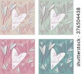 happy valentine card | Shutterstock .eps vector #376504438