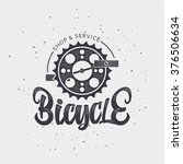 bicycle badge insignia for any... | Shutterstock .eps vector #376506634