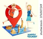 pleasure travel destinations.... | Shutterstock .eps vector #376507249