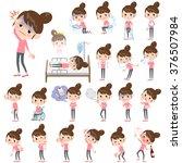 Set Of Various Poses Of Bun...