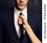 fashion studio photo of sexy... | Shutterstock . vector #376514308