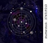 mystical geometry symbol on... | Shutterstock .eps vector #376519213