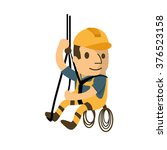 construction worker in safety... | Shutterstock .eps vector #376523158