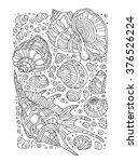 seashell pattern art background.... | Shutterstock .eps vector #376526224