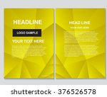 abstract vector modern flyers... | Shutterstock .eps vector #376526578