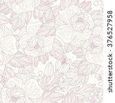 vector floral seamless pattern... | Shutterstock .eps vector #376527958