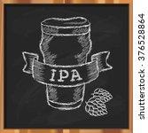 hand drawn craft beer label.... | Shutterstock .eps vector #376528864