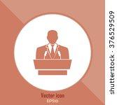 speaker icon. orator speaking... | Shutterstock .eps vector #376529509