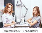 women's manicure  nail polish ... | Shutterstock . vector #376530604