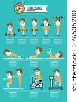 exercise   fitness infographics.... | Shutterstock .eps vector #376535200