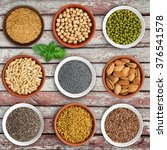large seed super food selection ... | Shutterstock . vector #376541578