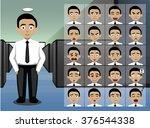 business young man cartoon... | Shutterstock .eps vector #376544338