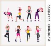 workout   Shutterstock .eps vector #376545910