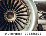 aircraft engine close up. color ... | Shutterstock . vector #376556833