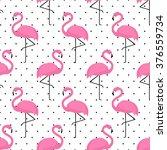 Flamingo Seamless Pattern On...