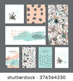 set of universal cards. hand... | Shutterstock .eps vector #376564330