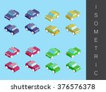 isometric transport icon set. | Shutterstock .eps vector #376576378