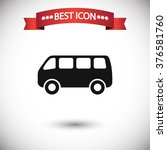bus icon vector | Shutterstock .eps vector #376581760