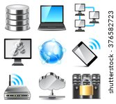 network icons detailed photo... | Shutterstock .eps vector #376582723