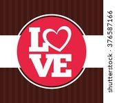 love card design  | Shutterstock .eps vector #376587166
