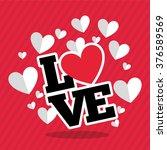 love card design  | Shutterstock .eps vector #376589569