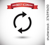 refresh icon vector | Shutterstock .eps vector #376595650