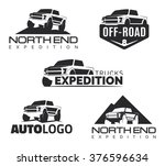 set of modern suv pickup...   Shutterstock .eps vector #376596634