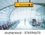 airport sign departure and... | Shutterstock . vector #376596670