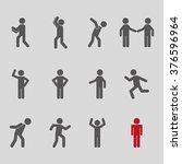 men sign design  | Shutterstock .eps vector #376596964