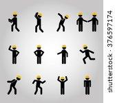 men sign design  | Shutterstock .eps vector #376597174