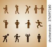 men sign design  | Shutterstock .eps vector #376597180