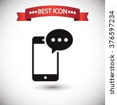 phone sms icon vector | Shutterstock .eps vector #376597234