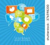 social network design  | Shutterstock .eps vector #376598200