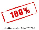 100 percent stamp isolated on... | Shutterstock . vector #376598203
