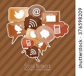 social network design  | Shutterstock .eps vector #376598209