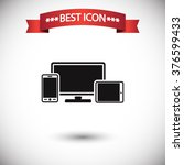 monitor phone tablet icon vector