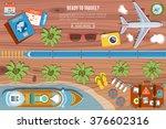 colorful travel vector banner.... | Shutterstock .eps vector #376602316