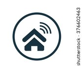 home wifi icon vector | Shutterstock .eps vector #376602463