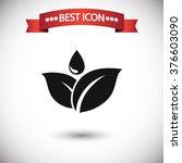 leafs drop icon vector