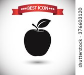 Постер, плакат: Apple icon vector apple
