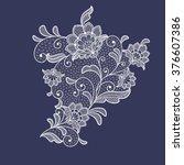 lace flowers decoration element   Shutterstock .eps vector #376607386